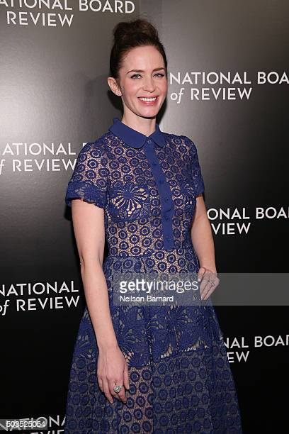 Actress Emily Blunt attends the 2015 National Board of Review Gala at Cipriani 42nd Street on January 5 2016 in New York City