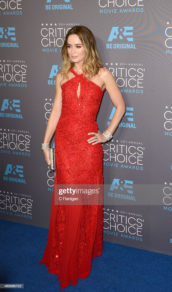 Actress Emily Blunt attends The 20th Annual Critics' Choice Movie Awards at Hollywood Palladium on January 15, 2015 in Los Angeles, California.