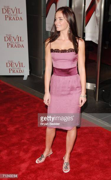 Actress Emily Blunt attends the 20th Century Fox premiere of The Devil Wears Prada at the Loews Lincoln Center Theatre on June 19 2006 in New York...