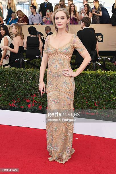 Actress Emily Blunt attends the 23rd Annual Screen Actors Guild Awards at The Shrine Expo Hall on January 29 2017 in Los Angeles California