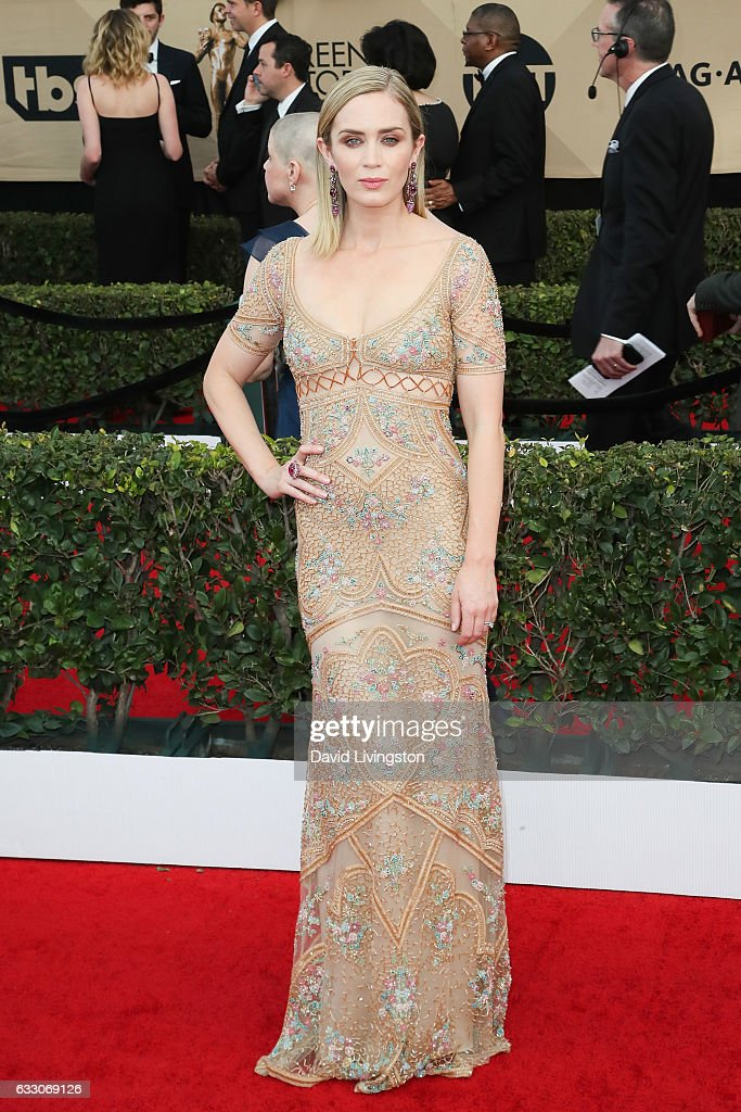 Actress Emily Blunt attends the 23rd Annual Screen Actors Guild Awards at The Shrine Expo Hall on January 29, 2017 in Los Angeles, California.