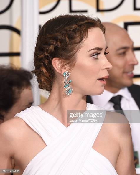 Actress Emily Blunt attends the 72nd Annual Golden Globe Awards at The Beverly Hilton Hotel on January 11 2015 in Beverly Hills California