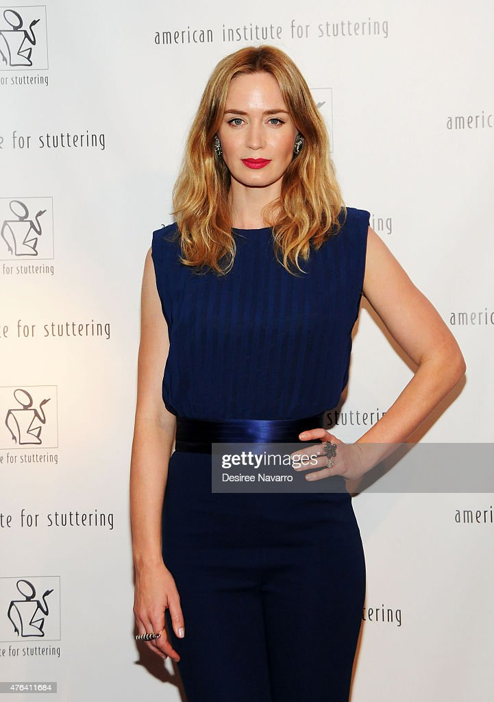 Actress Emily Blunt attends the 9th Annual American Institute For Stuttering Benefit Gala at The Lighthouse at Chelsea Piers on June 8, 2015 in New York City.