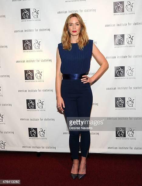 Actress Emily Blunt attends the 9th Annual American Institute For Stuttering Benefit Gala at The Lighthouse at Chelsea Piers on June 8 2015 in New...