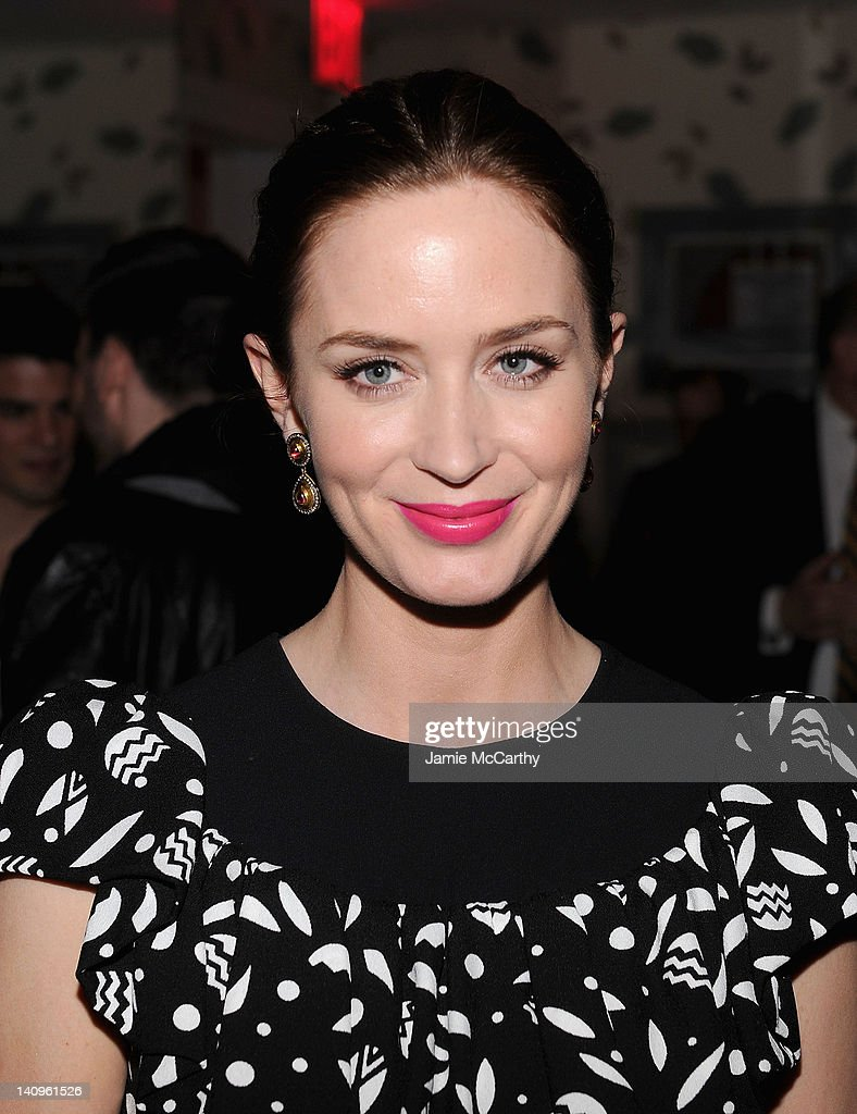 Actress Emily Blunt attends the after party for the Cinema Society Opium Yves Saint Laurent screening of 'Salmon Fishing in the Yemen' at the Crosby...