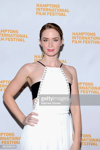 Actress Emily Blunt attends the Awards Dinner on Day 4 of the 23rd Annual Hamptons International Film Festival on October 11 2015 in East Hampton New...