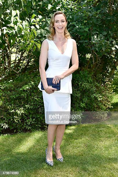 Actress Emily Blunt attends the Christian Dior show as part of Paris Fashion Week Haute Couture Fall/Winter 2015/2016 on July 6 2015 in Paris France