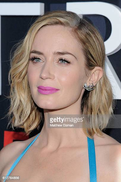 Actress Emily Blunt attends 'The Girl On The Train' New York Premiere at Regal EWalk Stadium 13 on October 4 2016 in New York City