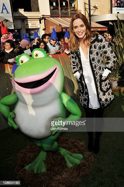 Actress Emily Blunt attends the 'Gnomeo Juliet' premiere at Odeon Leicester Square on January 30 2011 in London England