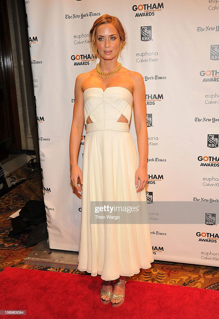 Actress Emily Blunt attends the IFP's 22nd Annual Gotham Independent Film Awards at Cipriani Wall Street on November 26, 2012 in New York City.