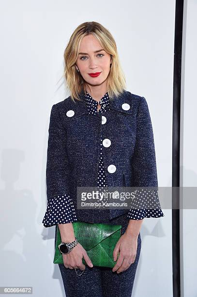 Actress Emily Blunt attends the Michael Kors Spring 2017 Runway Show during New York Fashion Week at Spring Studios on September 14 2016 in New York...