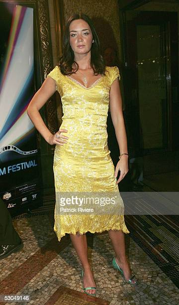 Actress Emily Blunt attends the opening night of the Sydney Film Festival at the State Theatre on June 10 2005 in Sydney Australia Her first film 'My...