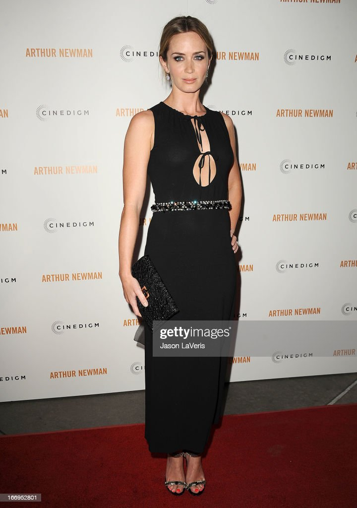 Actress <a gi-track='captionPersonalityLinkClicked' href=/galleries/search?phrase=Emily+Blunt&family=editorial&specificpeople=213480 ng-click='$event.stopPropagation()'>Emily Blunt</a> attends the premiere of 'Arthur Newman' at ArcLight Hollywood on April 18, 2013 in Hollywood, California.