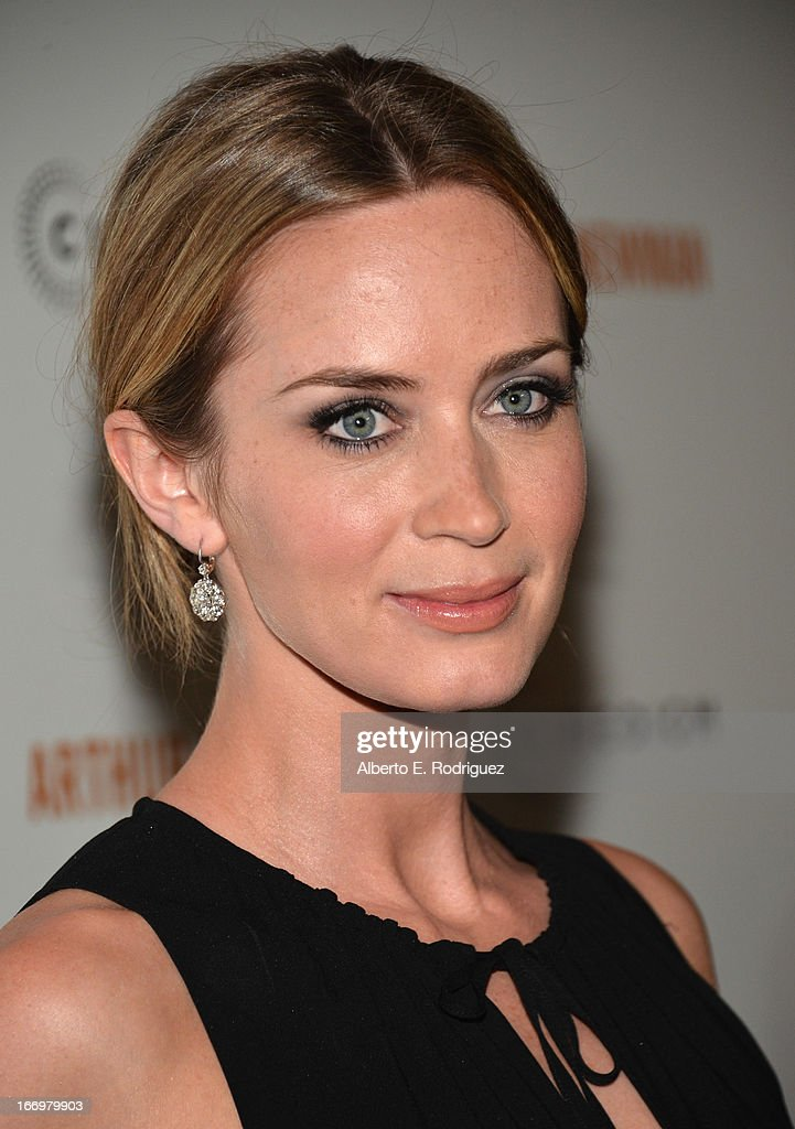 Actress Emily Blunt attends the premiere of Cinedigm's 'Arthur Newman' at ArcLight Hollywood on April 18, 2013 in Hollywood, California.