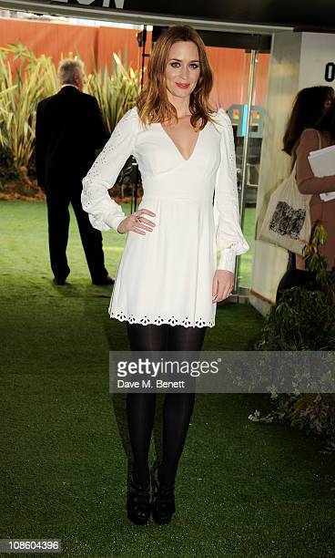 Actress Emily Blunt attends the UK film premiere of Gnomeo and Juliet at Odeon Leicester Square on January 30 2011 in London England