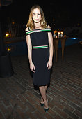 Actress Emily Blunt attends VANITY FAIR and Barneys New York Dinner benefiting OXFAM hosted by Rooney Mara at Chateau Marmont on February 18 2015 in...