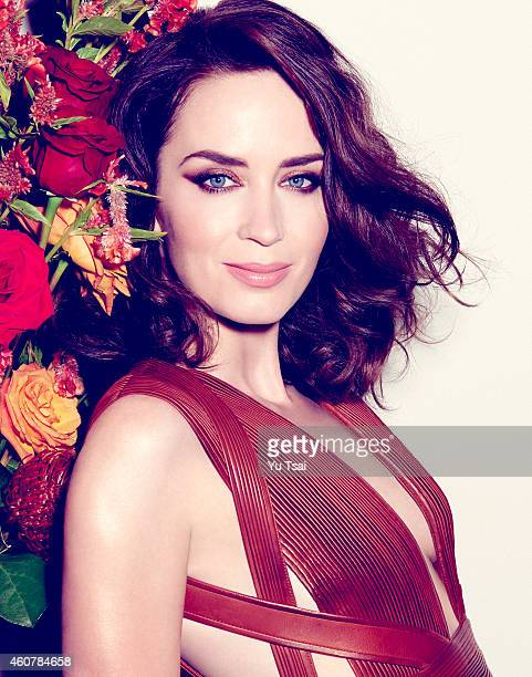 Actress Emily Blunt is photographed for Rhapsody Magazine on October 3 2014 in New York City