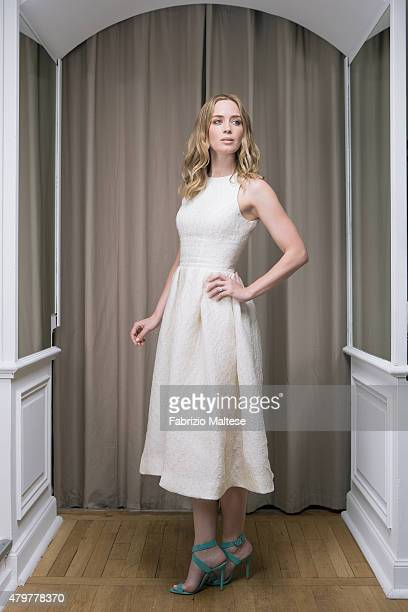 Actress Emily Blunt is photographed for The Hollywood Reporter on May 15 2015 in Cannes France **NO SALES IN USA TILL AUGUST 28 2015**