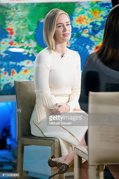 Actress Emily Blunt is seen at NBC's 'Today' show at NBC Studios on October 4 2016 in New York City
