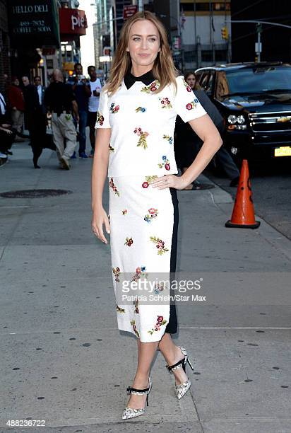 Actress Emily Blunt is seen on September 14 2015 in New York City