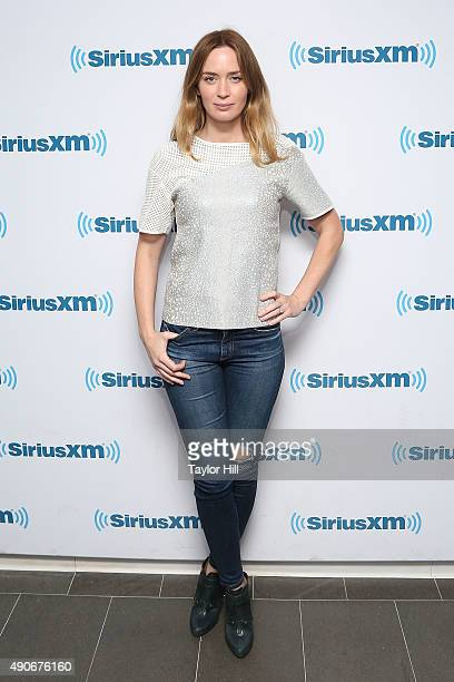 Actress Emily Blunt visits the SiriusXM Studios on September 30 2015 in New York City