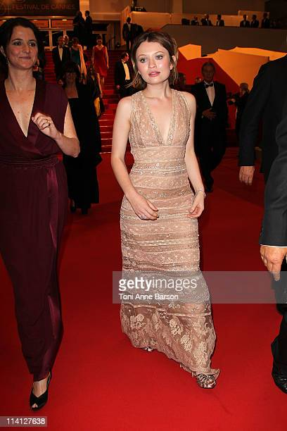 Actress Emily Browning and director/writer Julia Leigh depart the 'Sleeping Beauty' Premiere during the 64th Annual Cannes Film Festival at the...