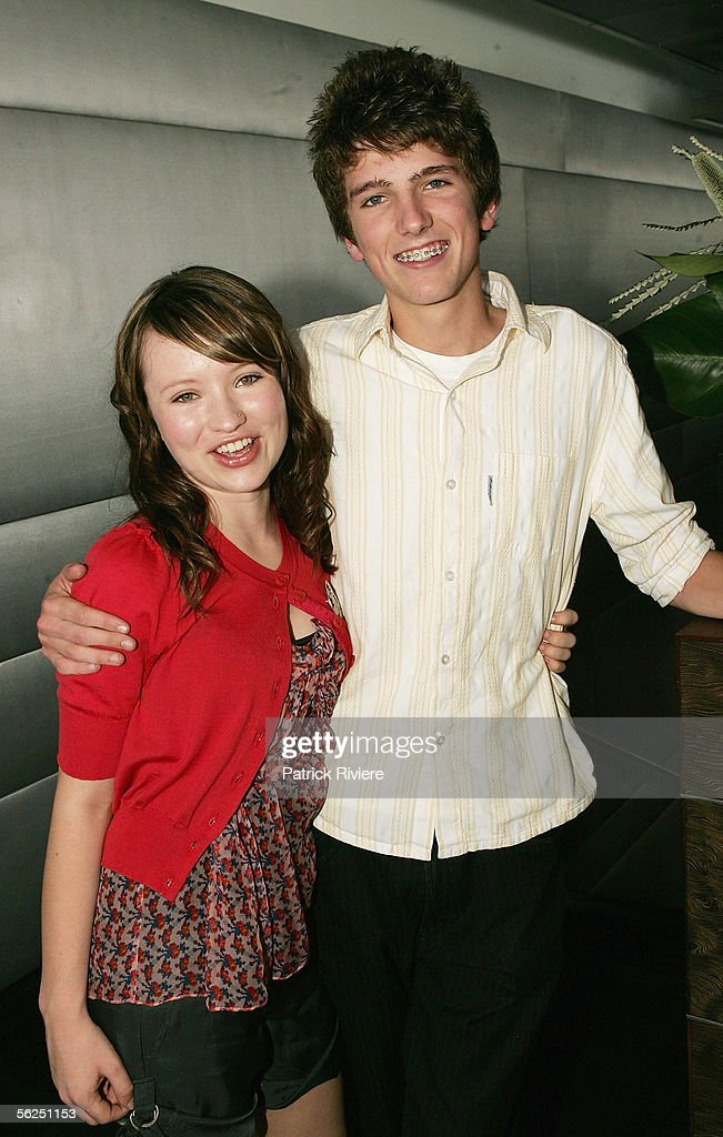 Actress Emily Browning and her friend Guy Franklin attend the Lexus Inside Film Awards InStyle brunch at the Overseas Passenger Terminal, The Rocks on November 22, 2005 in Sydney, Australia.