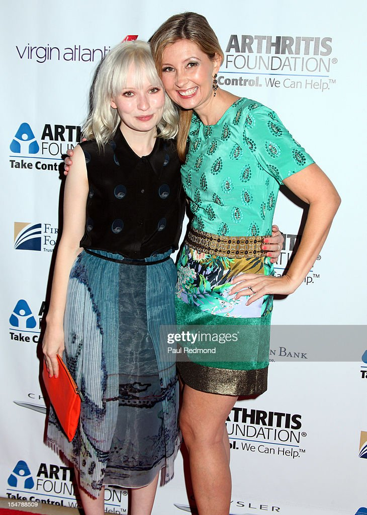 Actress Emily Browning and producer Deborah Snyder attend The Arthritis Foundation's Annual Gala Honoring Danny Glover at The Beverly Hilton Hotel on October 25, 2012 in Beverly Hills, California.