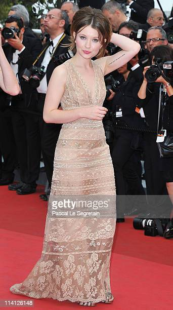 Actress Emily Browning arrives at the 'Sleeping Beauty' premiere during the 64th Annual Cannes Film Festival at the Palais des Festivals on May 12...