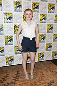 Actress Emily Browning attends a red carpet for 'Sucker Punch' on day 3 of ComicCon International at San Diego Convention Center on July 24 2010 in...