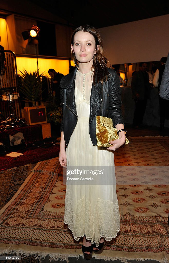 Actress <a gi-track='captionPersonalityLinkClicked' href=/galleries/search?phrase=Emily+Browning&family=editorial&specificpeople=214573 ng-click='$event.stopPropagation()'>Emily Browning</a> attends Isabel Marant & Milla Jovovich BBQ party to celebrate the 1st Year of he LA Shop at Isabel Marant on October 10, 2013 in Los Angeles, California.