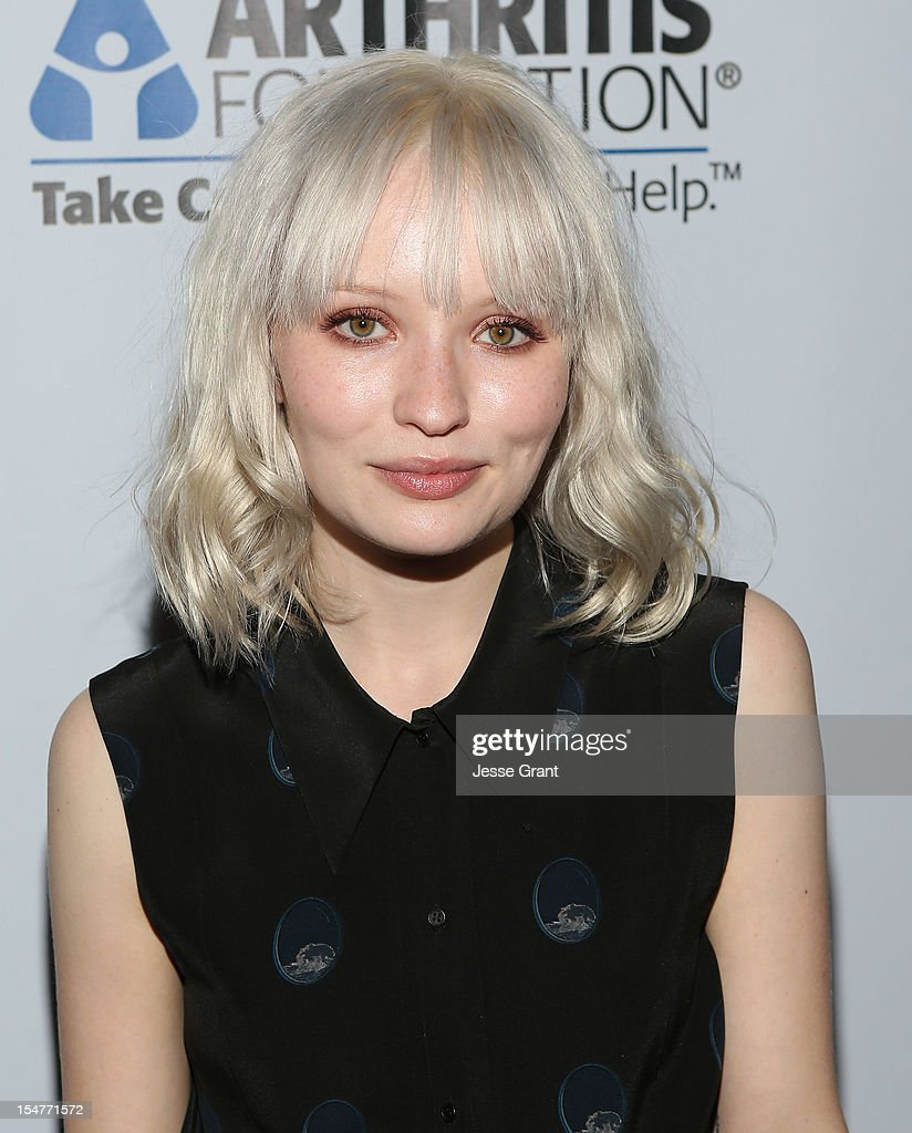 Actress Emily Browning attends the Arthritis Foundation 'Commitment to a Cure' 2012 Awards Gala at The Beverly Hilton Hotel on October 25, 2012 in Beverly Hills, California.