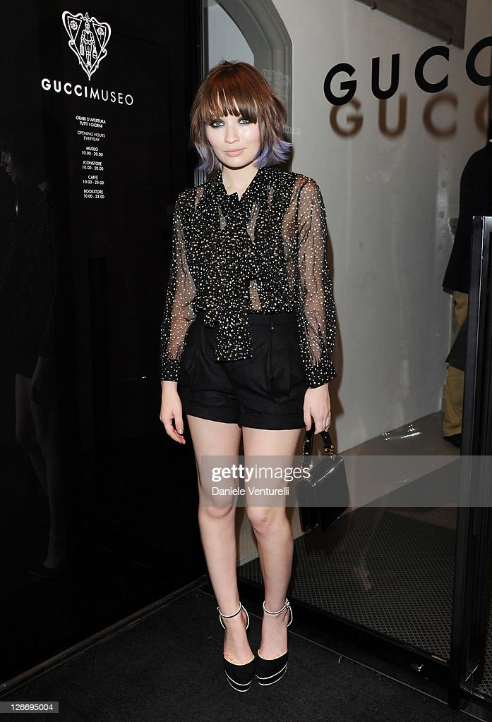 Actress Emily Browning attends the Gucci Museum opening on September 26, 2011 in Florence, Italy.