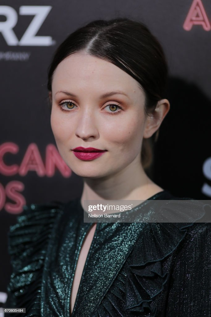 Actress Emily Browning attends the premiere of Starz's 'American Gods' at the ArcLight Cinemas Cinerama Dome on April 20, 2017 in Hollywood, California.
