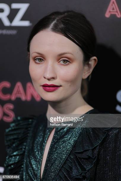 Actress Emily Browning attends the premiere of Starz's 'American Gods' at the ArcLight Cinemas Cinerama Dome on April 20 2017 in Hollywood California