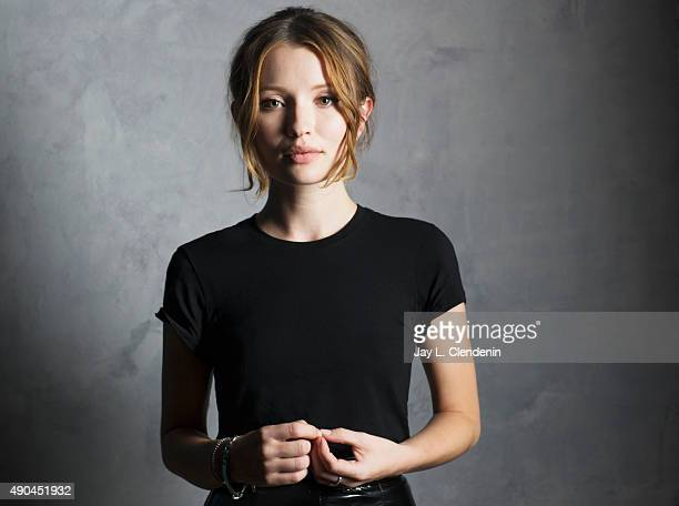 Actress Emily Browning of the film 'Legend' is photographed for Los Angeles Times on September 25 2015 in Toronto Ontario PUBLISHED IMAGE CREDIT MUST...