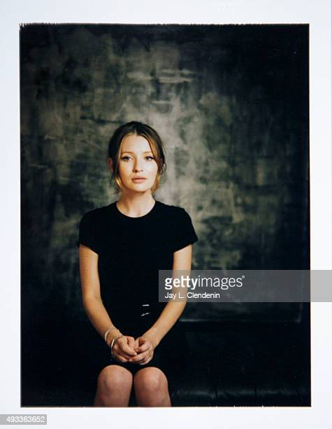 Actress Emily Browning of the film 'Legend' is photographed on polaroid film for Los Angeles Times on September 25 2015 in Toronto Ontario PUBLISHED...