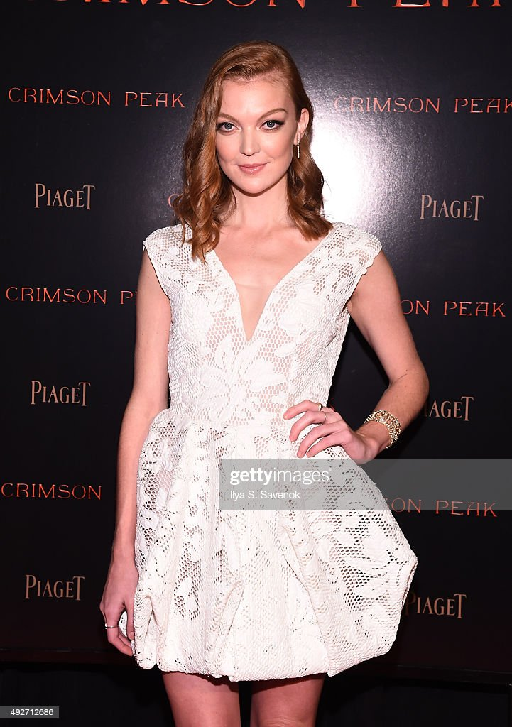 Actress Emily Coutts attends Piaget Co-Hosts The Crimson Peak Premiere on October 14, 2015 in New York City.