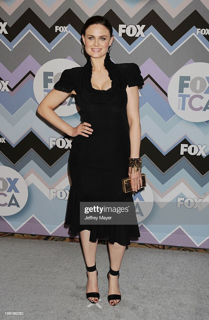 Actress Emily Deschanel arrives at the 2013 TCA Winter Press Tour - FOX All-Star Party at The Langham Huntington Hotel and Spa on January 8, 2013 in Pasadena, California.