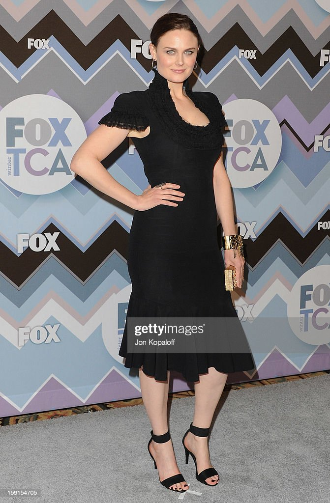 Actress Emily Deschanel arrives at the 2013 Winter TCA FOX All-Star Party at The Langham Huntington Hotel and Spa on January 8, 2013 in Pasadena, California.