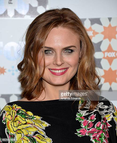 Actress Emily Deschanel arrives at the 2014 Television Critics Association Summer Press Tour FOX AllStar Party at Soho House on July 20 2014 in West...