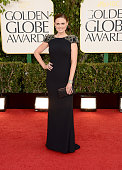 Actress Emily Deschanel arrives at the 70th Annual Golden Globe Awards held at The Beverly Hilton Hotel on January 13 2013 in Beverly Hills California