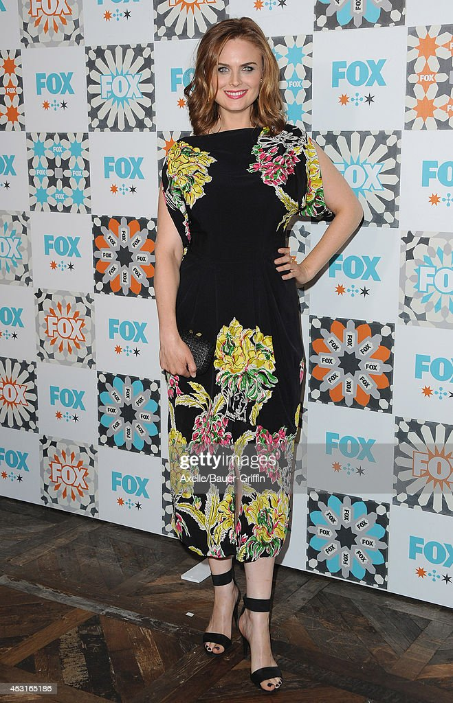 Actress <a gi-track='captionPersonalityLinkClicked' href=/galleries/search?phrase=Emily+Deschanel&family=editorial&specificpeople=240264 ng-click='$event.stopPropagation()'>Emily Deschanel</a> arrives at the FOX All-Star Party 2014 Television Critics Association Summer Press Tour at Soho House on July 20, 2014 in West Hollywood, California.
