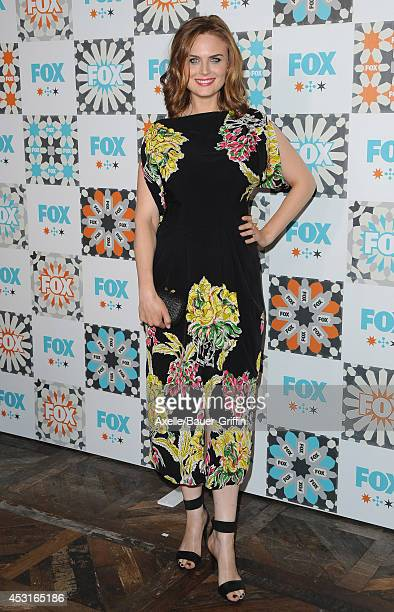 Actress Emily Deschanel arrives at the FOX AllStar Party 2014 Television Critics Association Summer Press Tour at Soho House on July 20 2014 in West...