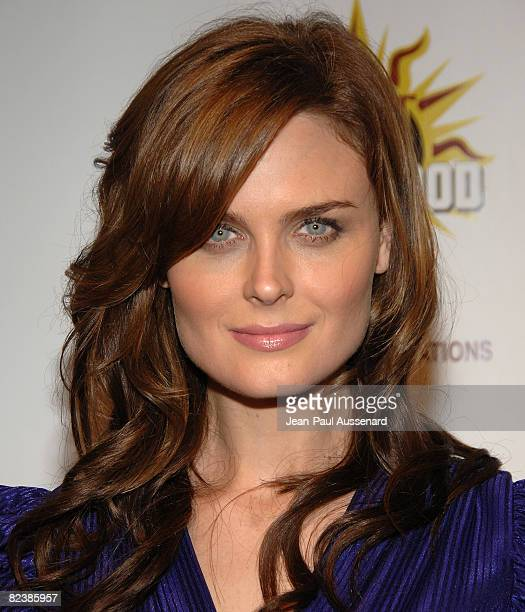 Actress Emily Deschanel arrives at the third annual Hot in Hollywood held at Avalon on August 16 2008 in Hollywood California