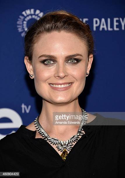 Actress Emily Deschanel arrives at the WeTV and The Paley Center for Media presentation of 'On The Beat The Evolution Of The Crime Drama Heroine' at...