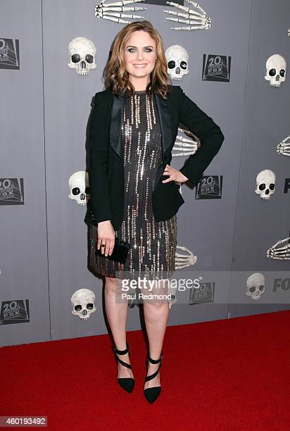 Actress Emily Deschanel arriving at Bones 200th Episode Celebration at Herringbone Mondrian LA on December 8 2014 in Beverly Hills California