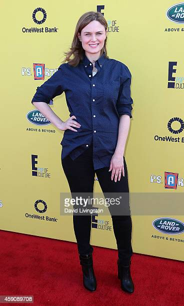Actress Emily Deschanel attends PS ARTS Express Yourself 2014 at the Barker Hanger on November 16 2014 in Santa Monica California