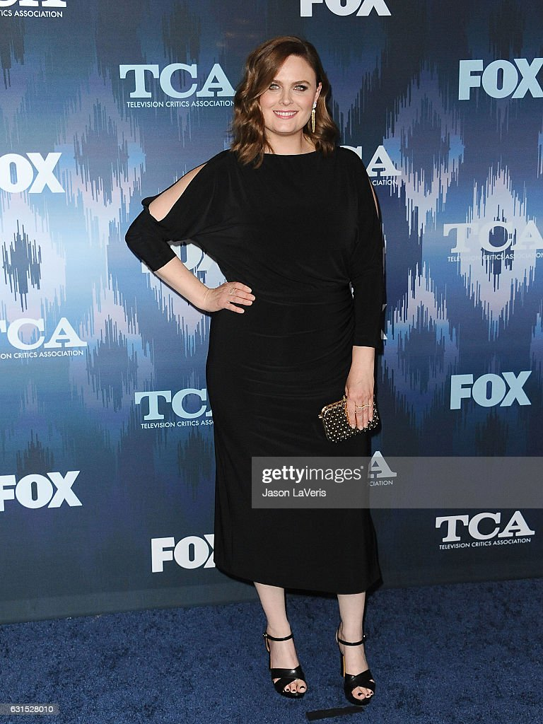 Actress Emily Deschanel attends the 2017 FOX All-Star Party at Langham Hotel on January 11, 2017 in Pasadena, California.