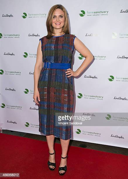 Actress Emily Deschanel attends 'The Conscientious Table' event at Crossroads Kitchen on September 29 2014 in Los Angeles California